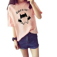 Women Cotton Summer Short Sleeve Tee Shirt  Casual Tops Cute Animal Print T-Shirt Pluse Size