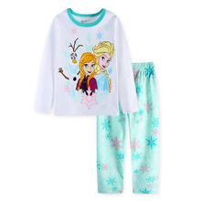 Retail Children Baby Girl's Boy's Kids Cartoon Full Sleeve Pajamas Suit Boys Girls Sleepwear Homewear Pyjamas Sets(China)