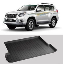 Good quality! Special trunk mats for Toyota Land Cruiser Prado 150 7seats 2016-2007 cargo liner mat boot carpets,Free shipping
