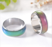 mood ring wedding rings  with the temperature change color magic Stainless Steel rings for women/men jewelry Free shipping
