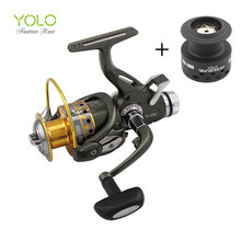 2017 new arrival  Updated Quality  Fishing Reel Smooth Spinning Reel 1 pcs 9+1 BB Carp Fishing Reel Bait Runner Fishing Reel