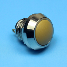 1214 12mm dia Domed Metal body plastic head momentary Pin terminal mini waterproof push switch IB12A-Q10Y-PN(China)
