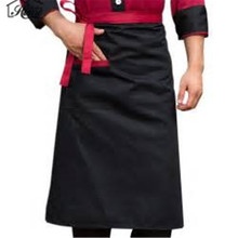Half Waist Chef Aprons Kitchen Restaurant Cooking Aprons With Pocket Work Apron Waiter Kitchen Cook Tool Unisex For Women Men