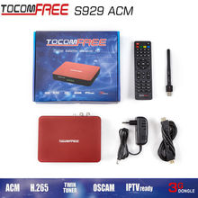 1PC TOCOMFREE S929ACM  Full HD DVB S/S2 Twin Tuner IKS + SKS and support newcam cccam powervu Chile Brazil South America IPTV