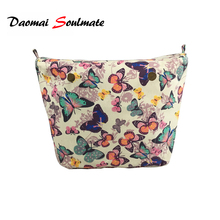 Mini Size Canvas lining Interior Insert Lining Inner Pocket organizera suitable for obag o bag Silicone handbag