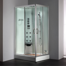 2017 luxury steam shower enclosure with tempered glass bathroom steam shower cabin jetted massage walking-in sauna room ASTS1054