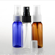 30pcs/lot Amber PET Perfume Bottles Atomizer Mini Plastic Transparent 30ml Bottle Travel Spray Bottle E Liquid Bottle Pump Blue