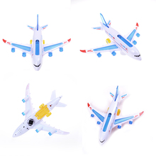 Universal Airplane Toys 30cm Plastic Airbus A380 Model Airplane Electric Flash Light Sound Toys for Kids Aircraft Model Plane(China)