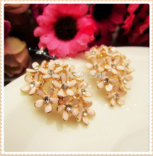 AL729104,28mm*20mm flowers rhinestone buttons,DIY hair ornaments handmade bow,Rhinestone faceplate diamond clasp(China)