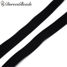 oreenBeads Velveteen Easter Ribbon Black Ribbons For Gifts Decoration On Christmas Wedding Party About 9.2m 1PC(China)