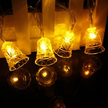 2.7cm Large Bell Led String 10leds Christmas Tree Decor night light Festival Lantern Party Holiday Room fast ship SW