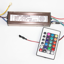 50W RGB Led Light Driver Lighting Transformer External Constant Current Aluminum Case Power Supply+ Remote Controller for LEDs(China)