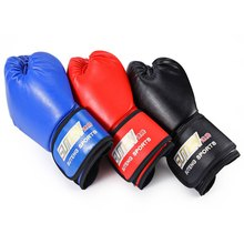 SUTEN 1 Pair PU Soft Foam Rubber Boxing Gloves Kickboxing MMA Training Fighting Sandbag for Muay Thai Kick Fighter