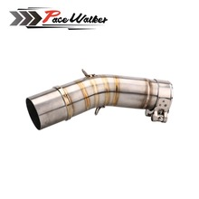 Motorcycle exhaust MUFFLER middle link contact pipe For SUZUKI GSX250