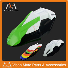 Green+White Front Fender Mudguard For Kawasaki KX85 KX125 KX250 KX500 KX250F KX450F KLX450R KLX150 Motorcycle Enduro Dirt Bike