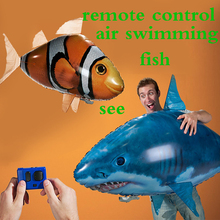 Hot sale RC Air Swimming fish toys drone RC Shark Clown fish balloons Nemo inflatable with helium fish plane kids toys RC Toys