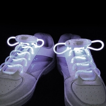 2017 New Stylish LED Glow Flash Shoelaces Shoestring Party Wedding Concert Wearing for Using Skating Sports Outdoor Sports