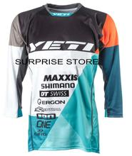 2017 Yeti WC DH JERSEY Downhill BMX RBX Breathable Motocross Enduro 3/4 Cycling Jersey Thrilling game bicycle riding