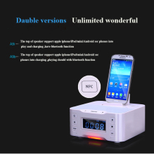 Portable Loudspeaker A9 Bluetooth Speaker NFC Dock Station for Apple Samsung Android ipod/touch/iphone 7 7 plus clock With USB(China)