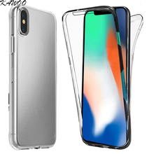 Buy iPhone X Case 360 Degree Clear Silicone Shockproof Cover iPhone X Case Front Back Full Body Capa iPhone 10 Coque for $1.25 in AliExpress store