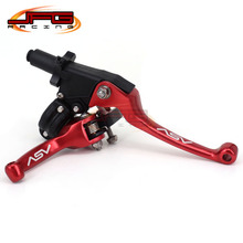 Aluminum CNC ASV 2ND Folding Clutch And Brake Lever For Dirt Bike Pit Bike Universal Spare Parts