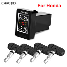 CAREUD U912 Car Wireless TPMS Tire Pressure Monitoring System with 4 Built-in Sensors LCD Display Embedded Monitor For Honda
