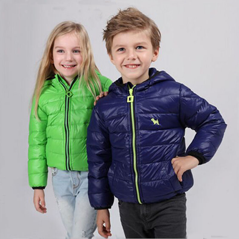 Winter Down Jacket For Girls 2017 New Fashion Hooded Children Jacket Boys Warm  Slim Thin Down Coat  For 2-5yearsОдежда и ак�е��уары<br><br><br>Aliexpress