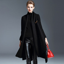 2017 winter women's new fashion cloak overcoat woolen coat long section large swing cloak coat NW16C62690(China)