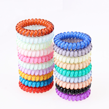 5 Pcs New Women Headdress Head Flower Hair Accessories Hair Ring Hair Rope Candy-colored Telephone Wire 19 Kinds of Colors