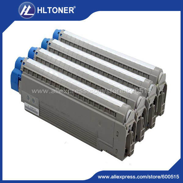 4pcs/set Remanufactured toner cartridge (44059212 44059211 44059210 44059209) for OKI MC860<br><br>Aliexpress