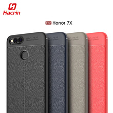 Buy Huawei Honor 7X Case Cover Luxury Soft Shockproof Anti-Knock Leather Grained TPU Protective Back Cover Case Huawei Honor 7X for $3.39 in AliExpress store