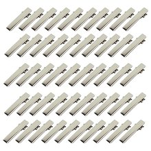 50 Pcs Silver Flat Metal Single Prong Alligator Hair Clips Barrette For Bows DIY Accessories Hairpins