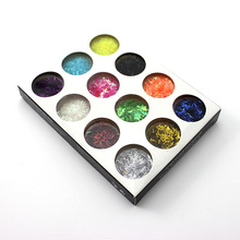 12 Colors Nail Art Tools Nail Kit Colourful Carving Pattern Glitter Lace Powder(China)
