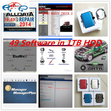 2017 auto new data software alldata v10.53 with mitchell on demand 2015 + 49 in 1TB HDD auto repair software Best price DHL free