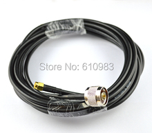 Pigtail cable Straight SMA male Plug to N Male Plug connector Extension cord RG58 5 M(China)