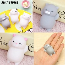 JETTING Dropshipping Cute Mochi Squishy Cat Squeeze Healing Fun Kids Kawaii kids Adult Toy Stress Reliever Decor for Phone Case