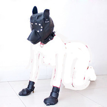 Buy Dog Slave Cosplay Hanging Palm Gloves+ Dog Hat Mask Head Hood bdsm Sex Toys Couples Adult Games Products Fetish Bondage Kit