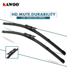 "KAWOO 2pcs Car Wiper Blade 24+16"" For Nissan Qashqai, (2007-) Auto Soft Rubber Windcreen Wipers Blades Car Accessories Styling(China)"