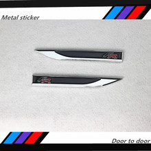 2pcs of black red FR chromium metal badges logo stickers 3 d auto car appearance mark adornment ibiza Leon Toledo car emblem(China)