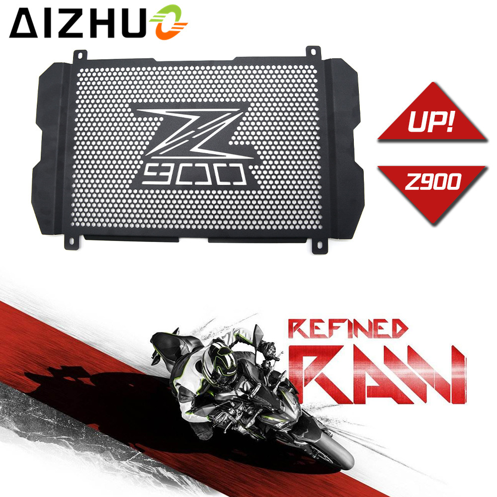 Radiator Grille Guard Cover motorcycle accessories black motor Radiator Guard protector For kawasaki Z900 2017 With Z900 logo<br>