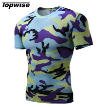 Men's Running T-Shirt Outdoor Sports Gym Fitness Tight Tennis Badminton Short Sleeve Stretch Jogging Shirt Muscle Tee Tops XXL(China)