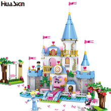 New Brand Compatible Friends Series City Cinderella Castle Model Blocks DIY Girls Princess Romantic Palace Building Bricks Toys