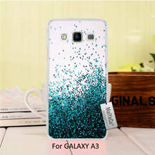 Printing Drawing protection Black phone Cover For GALAXY A3 2015 case  Many Blue diamond Swim