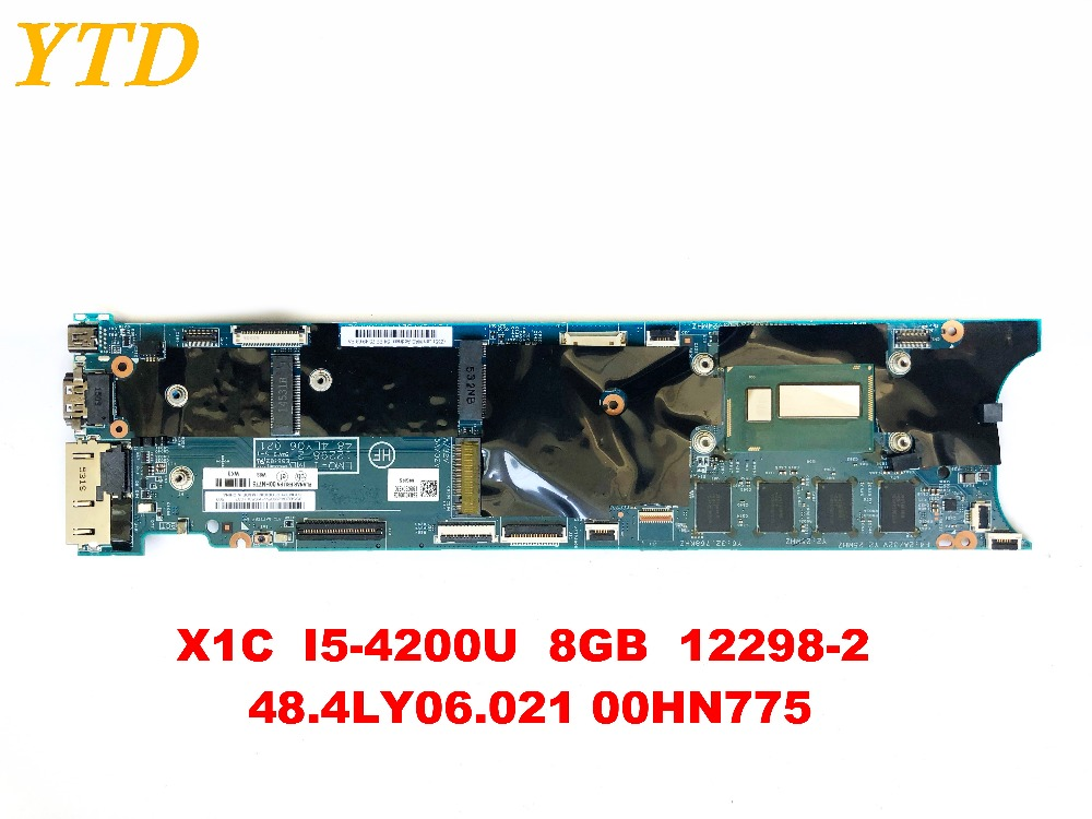 Original for Lenovo X1C  laptop motherboard X1C  I5-4200U  8GB  12298-2  48.4LY06.021 00HN775 tested good free shipping
