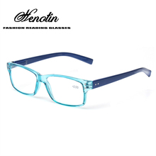 2016 Fashion Clear Plastic Men and Women Reading Glasses Rectangular Spring Hinge Light Color Eyeglasses Presbyopic Glasses