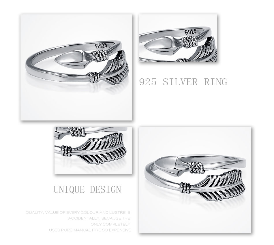Sterling Silver Cupid Arrow Ring