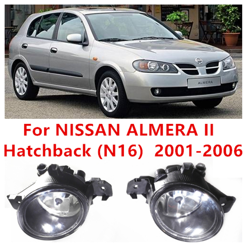 For NISSAN ALMERA 2/II Saloon (N16)  2001-2006 Car Styling FOG LAMPS Front Bumper Halogen Fog Lights High Brightness<br><br>Aliexpress