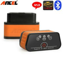 OBD2 Automotive Scanner Bluetooth Ancel icar2 ELM327 V1.5 Car Code Reader Auto Diagnostic Scanner in Russian Car Diagnostic Tool(China)