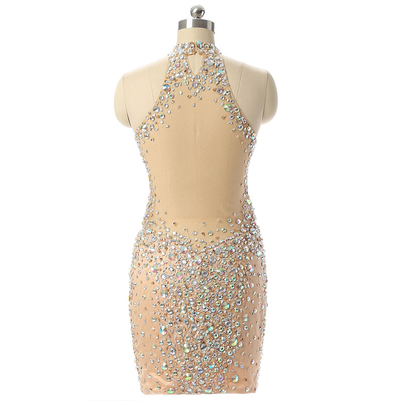Shop cheap Sexy Short Evening dress Beaded Crystals gown now