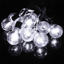 1.5M Multicolor Globe Balls Bulb Fairy Lamp 10 LED String Light Battery Power Christmas Wedding Party Home LED Outdoor Light